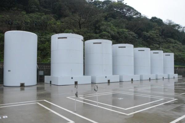 核一廠露天乾式貯存場。圖為去年2月18日現場狀況。(資料照,台灣電力公司提供)