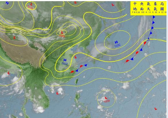 吳德榮今表示,今天東北風稍增強,迎風面雲量再度增多、降雨機率略提高。(圖擷取自三立準氣象·老大洩天機臉書)