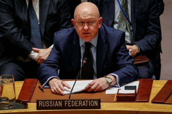 俄羅斯大使納班濟亞(Vasily Nebenzya)一再行使否決權,就是不願讓對敘利亞阿塞德(Bashar Assad)政府不利的情形發生。(路透)