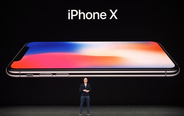 iPhone最新旗艦機iPhone X,在今天的發表會中壓軸登場。(法新社)