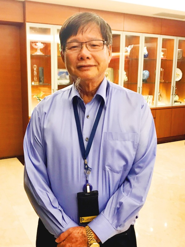 Ching Fu Shipbuilding Co founder and president Chen Ching-nan poses for a photograph in Kaohsiung yesterday. Photo: Huang Liang-chieh, Taipei Times