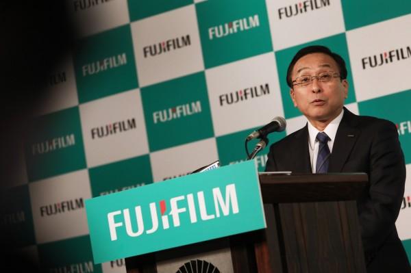 古森重隆對此表示,富士膠片資金不會因此案消耗殆盡,未來還會持續爭取併購機會。(彭博)
