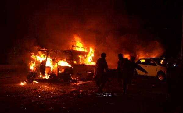 巴基斯坦奎達市發生強烈爆炸,至少造成15死35傷。(法新社)