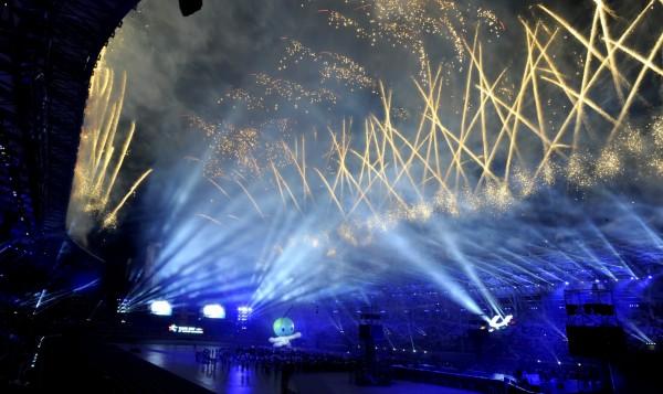 台北世大運在煙火秀中落幕。(資料照,記者林正堃攝)