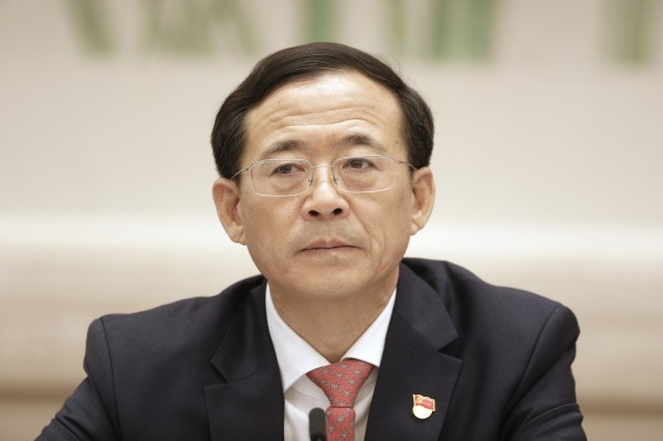 中國證監會主席劉士餘,昨天驚爆中南海曾政變。(彭博)