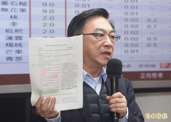 國民黨立委陳宜民在立法院質詢。(資料照,記者廖振輝攝)