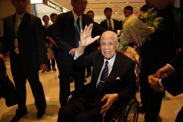 前總統李登輝應那霸市日本台灣和平基金會之邀訪問沖繩。(中央社)