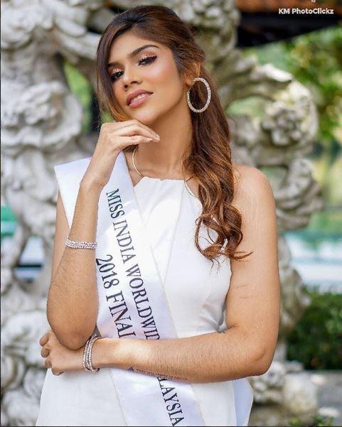 今年的印度世界小姐選美比賽,喬安娜得到亞軍。(圖擷取自Joanna Joseph IG)