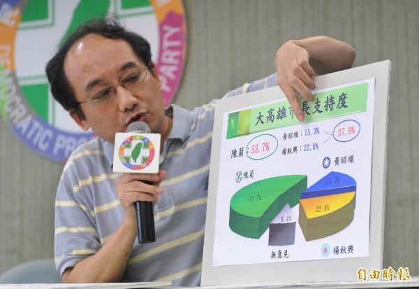 陳俊麟擅長民調分析,他此次負責戰情、監督民調。(資料照,記者廖振輝攝)