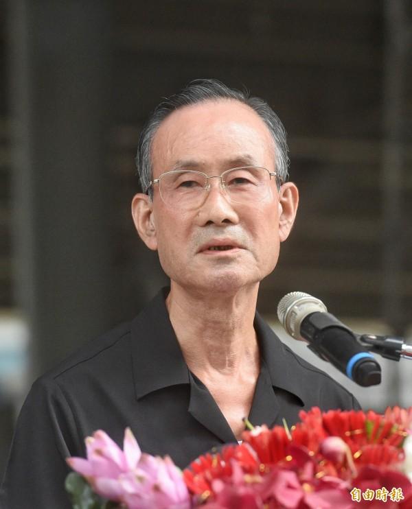 遠雄董事長趙藤雄今日下午主持中元普渡儀式,並在致詞時大吐苦水。(記者方賓照攝)
