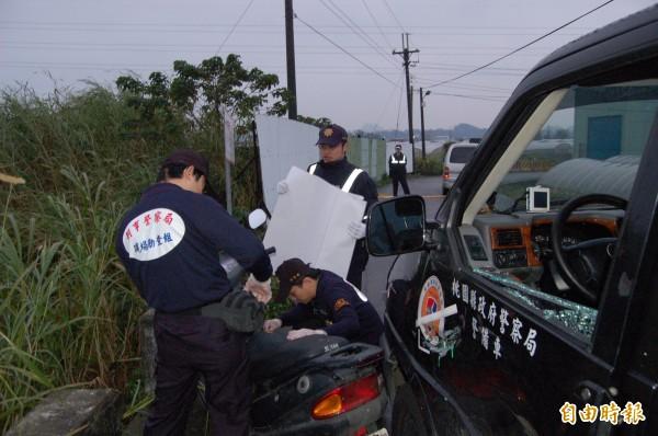 8年前車禍發生時,由於桃警、當事人說法紛陳,檢察官特別指派刑事局人員到場採證。(記者謝武雄攝)