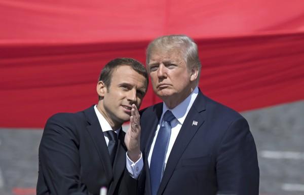 美國總統川普熱線法國總統馬克宏(Emmanuel Macron),過程中川普強調,美國願意用一切方法來停止北韓威脅。(歐新社)