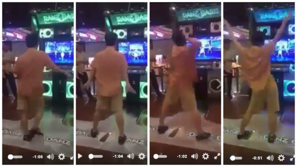 台灣大叔僚人舞姿,讓網友看了感到十分佩服。(圖擷自爆料公社)