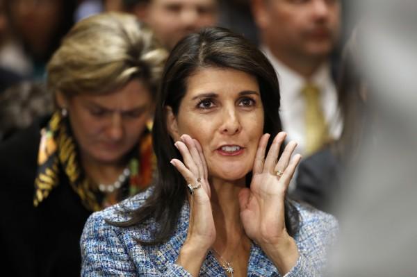 美國駐聯合國大使海利(Nikki Haley)出言「太快」,表示美國會對俄羅斯祭出新制裁。(美聯社資料照)
