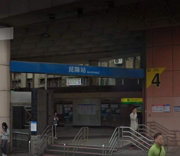 北捷昆陽站有工程師偷拍女子裙底,已遭警方逮捕。昆陽站示意圖。(圖擷自Google地圖)