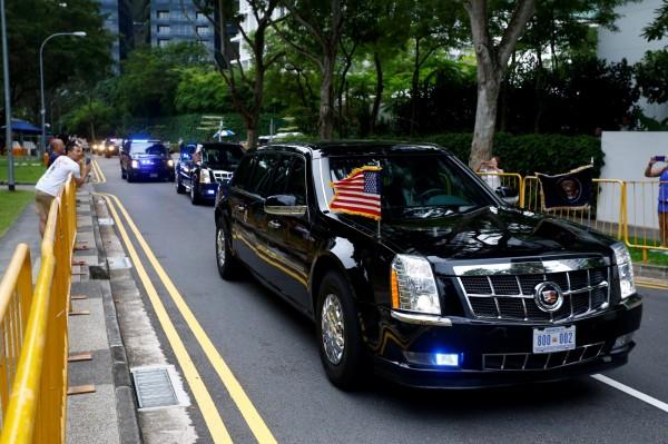 美國總統川普座車「野獸」。(路透)