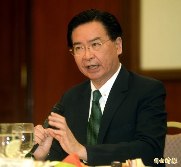 外交部長吳釗燮表示,台灣希望與這些國家,對台灣所處的戰略或安全環境有更深入的了解。(資料照)