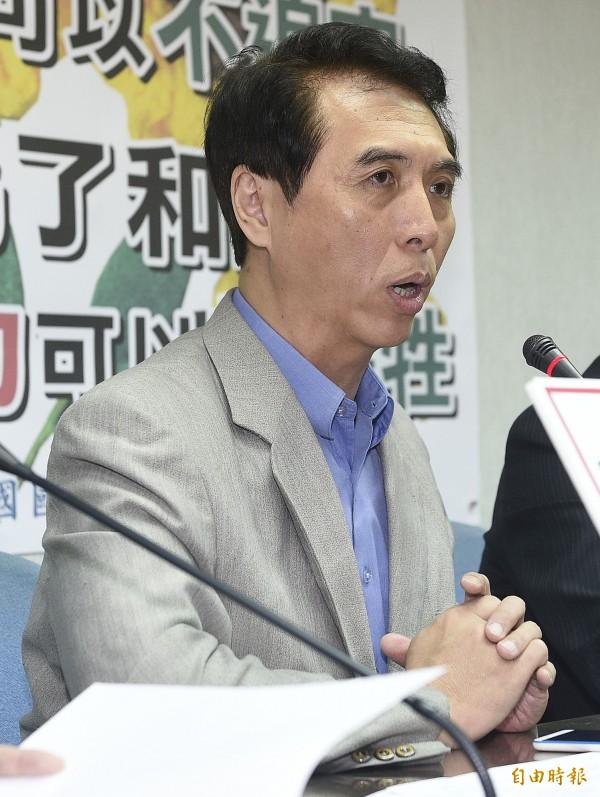藍委陳學聖表示國民黨以前為了兩岸和平,很少為台灣的自我價值發聲。(資料照,記者陳志曲攝)