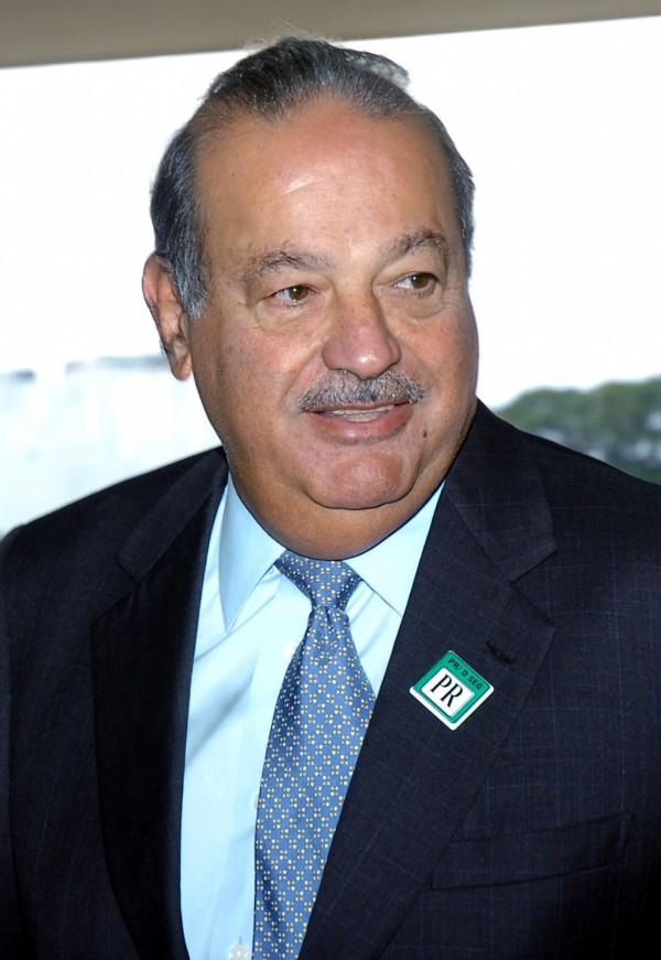 墨西哥富豪洛斯施林(Carlos Slim)。(圖擷取自維基百科)