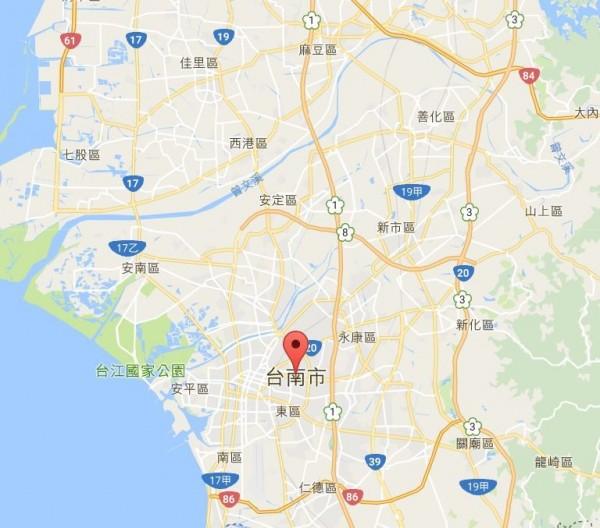 台南今日中午傳出一處民宅發生火災,造成1命危2受傷。(圖擷自Google地圖)