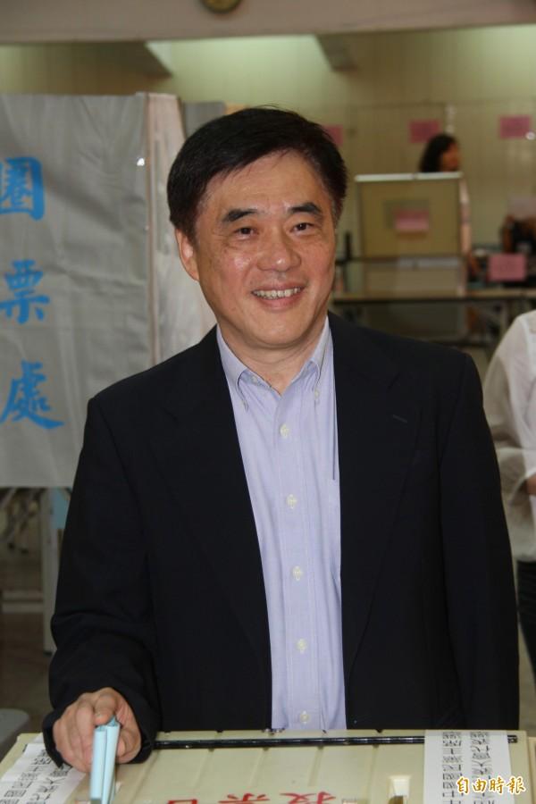 國民黨主席候選人郝龍斌強調有信心進入第二輪投票,高票當選。(記者林欣漢攝)
