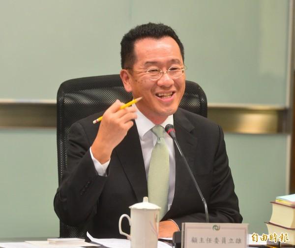外界指稱,顧立雄未來仍可能是民進黨參選台北市長的熱門人選,他則澄清說,這問題他已經回答很多次,真的沒有這樣規劃。(記者王藝菘攝)