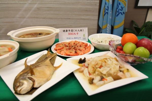 國健署呼籲,過年年菜注意熱量、飲食均衡。(國健署提供)
