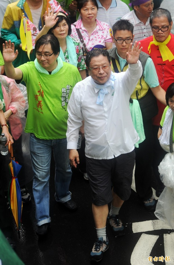 2012年時汪笨湖曾走上街頭,表達反馬的不滿情緒。(資料照,記者羅沛德攝)