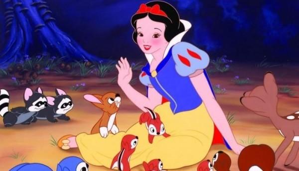 卡通《白雪公主》劇照。(圖擷取自推特)