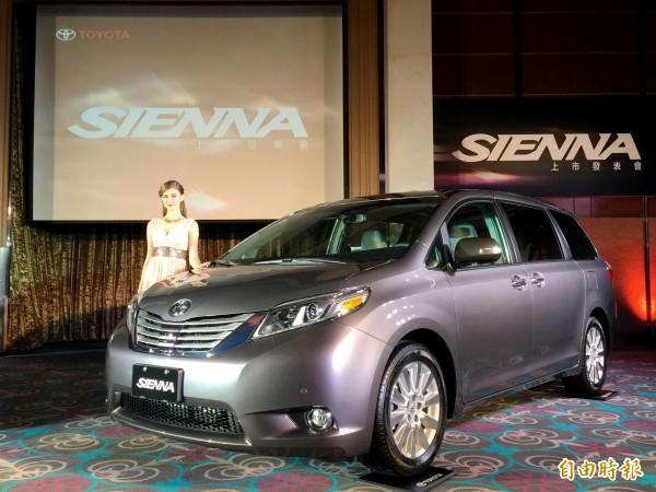 和泰車表示,原廠認證的SIENNA 7人座MPV是今年7月12上市,和泰汽車受影響的台數約200輛。(記者楊雅民攝)