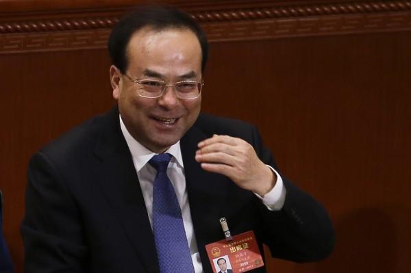 中共前重慶市委書記孫政才(圖)落馬被查後,今天被宣布開除黨籍及公職。(美聯社)