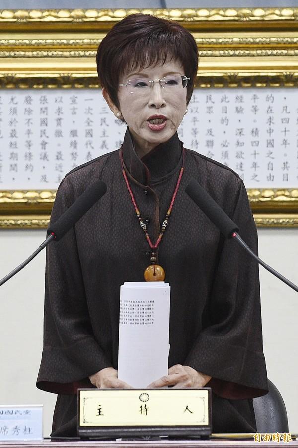 國民黨主席洪秀柱。(資料照,記者陳志曲攝)