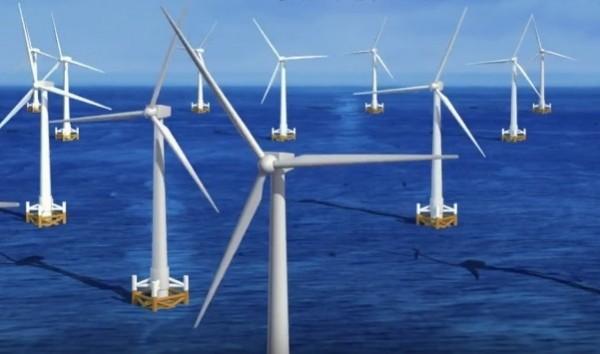 台電離岸風場邁開第一步。(台電提供)