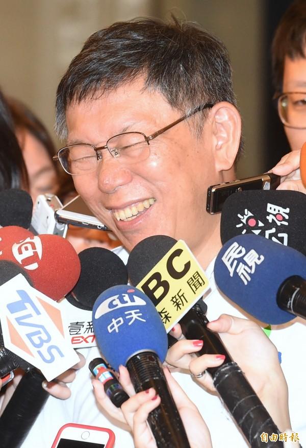 傳出柯文哲透過市府高層人士向總統府打探,中國提出出席世大運閉幕式「但副總統陳建仁不出席」的意見。(資料照,記者朱沛雄攝)