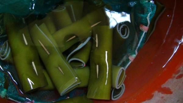 長庚毒物實驗室團隊在毒物科醫師林杰樑臉書粉絲團張貼挑選海帶注意事項,建議民眾別買太厚、顏色太綠的產品,買回家後可先浸泡鹽水。(資料照,記者黃佳琳翻攝)