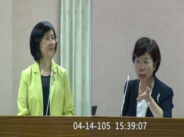 尤美女聽完羅的回應後時候不以為然,表示:「那是因為人家泰國懂得主張說泰國人當然要回到我的司法管轄權!」(圖擷取自YouTube)