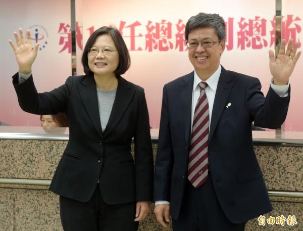 民調:蔡陳52.6%首度過半 朱王20.1% 宋瑩9.2%