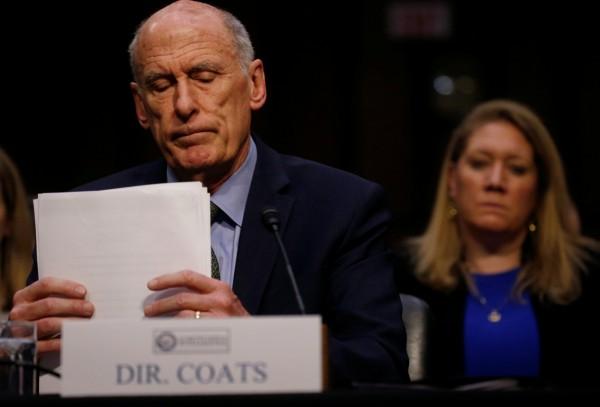 美國國家情報總監柯茨今天在參院情報委員會作證表示,對美利益最主要的情報威脅,仍來自俄國與中國。(路透)