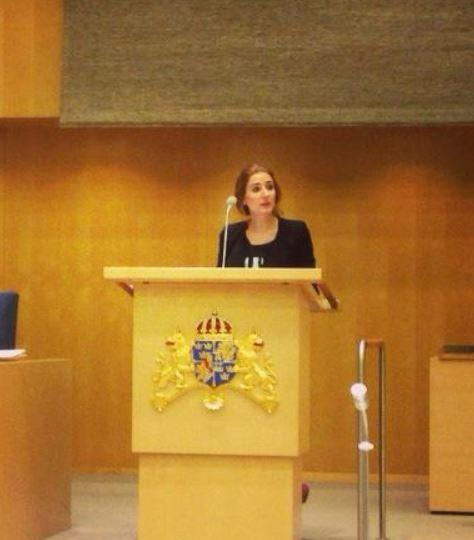 以賽柏為首的瑞典國會議員,聯合致函瑞典外長,呼籲政府對「更名」一事盡速修正。(擷取自Caroline Szyber臉書)