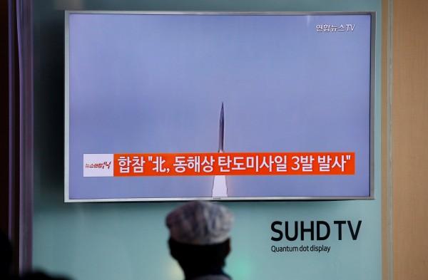 「北極星2號」是北韓研發的最新地對地中程彈道導彈,配有固體燃料及新型的高推力引擎,並可攜帶核彈頭。(資料照,法新社)