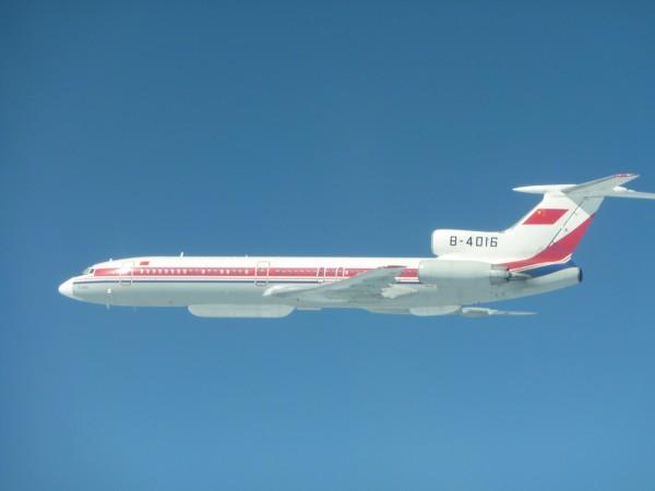 中共軍機TU-154。(國防部提供)