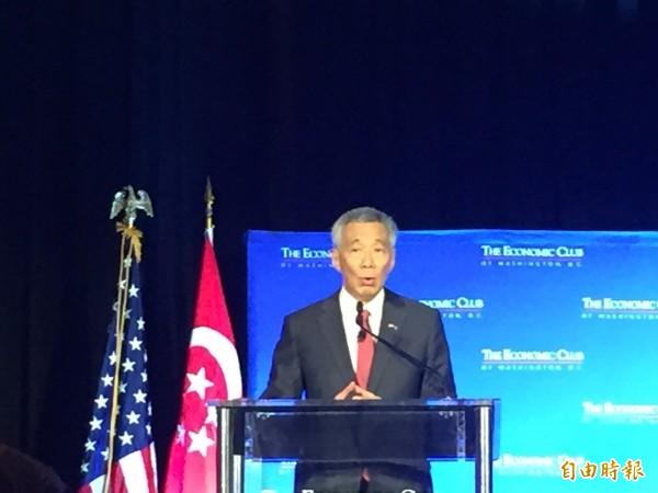 新加坡總理李顯龍今日表示,他的接班人不會在今年重組內閣時被選出。(資料照,記者曹郁芬攝)
