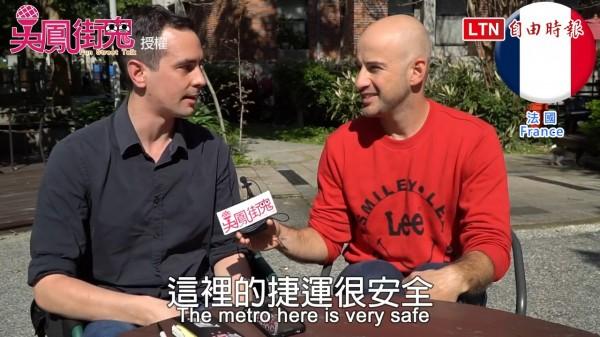 吳鳳街訪老外,分享搭乘台北以及他國捷運的經驗談。(FB粉專/吳鳳街鬼 Fun Street Talk授權提供)