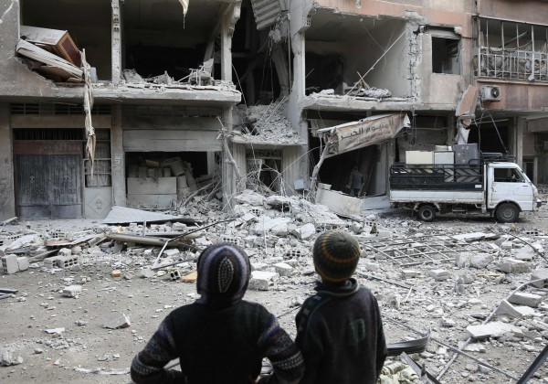 土耳其正準備大舉進攻庫爾德人控制的敘利亞地區阿夫林,當地常年處於戰亂中。(法新社)
