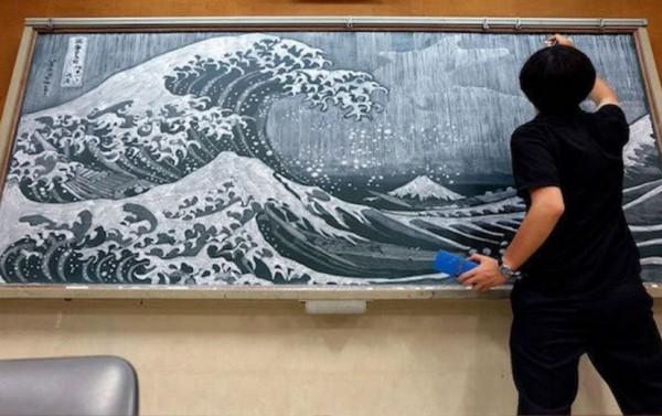 粉筆也能畫成這樣?(圖擷取自hamacream)