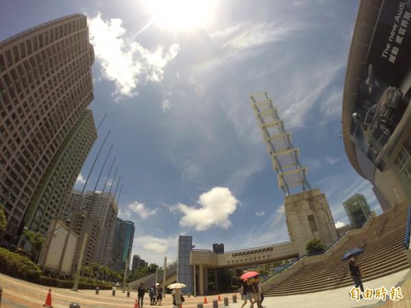 由於今天雲量減少,紫外線將會更強烈!(資料照,記者黃志源攝)