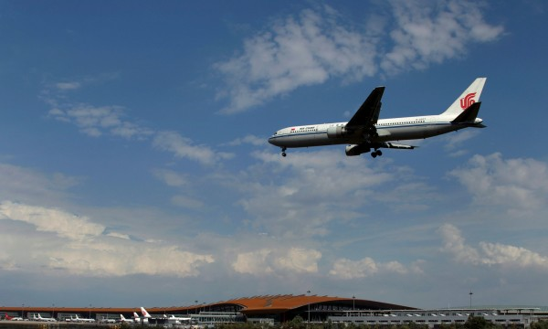 南航12日發表聲明指出,西安市幹部並沒有要求升等。(路透)