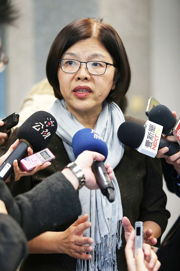 Ill-Gotten Party Assets Settlement Committee spokeswoman Shih Chin-fang speaks at a news conference in Taipei on Jan 3. Photo: CNA