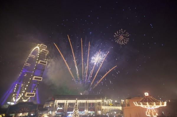 奧地利因斯布魯克跨年夜爆發集體性騷事件。圖為奧地利首都維也納的新年煙火。(歐新社)