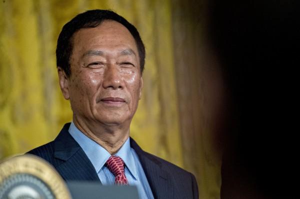 傳郭台銘在近日的內部會議痛批工會幹部,並稱要全部改選。(彭博社)